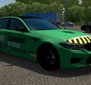 BMW M5 F90 Bulkin Edition Mod for City Car Driving v.1.5.9