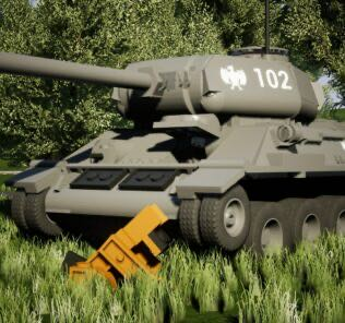 """T-34-85 """"Rudy"""" Mod for Brick Rigs"""