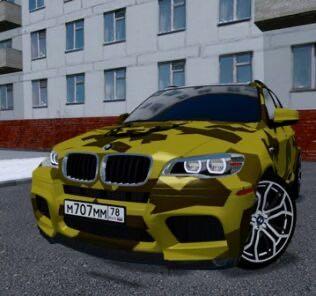 BMW X5M Gold Edition Davidich Mod for City Car Driving v.1.5.9