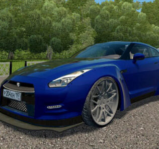 Nissan GT-R Liberty Walk Performance Mod for City Car Driving v.1.5.9